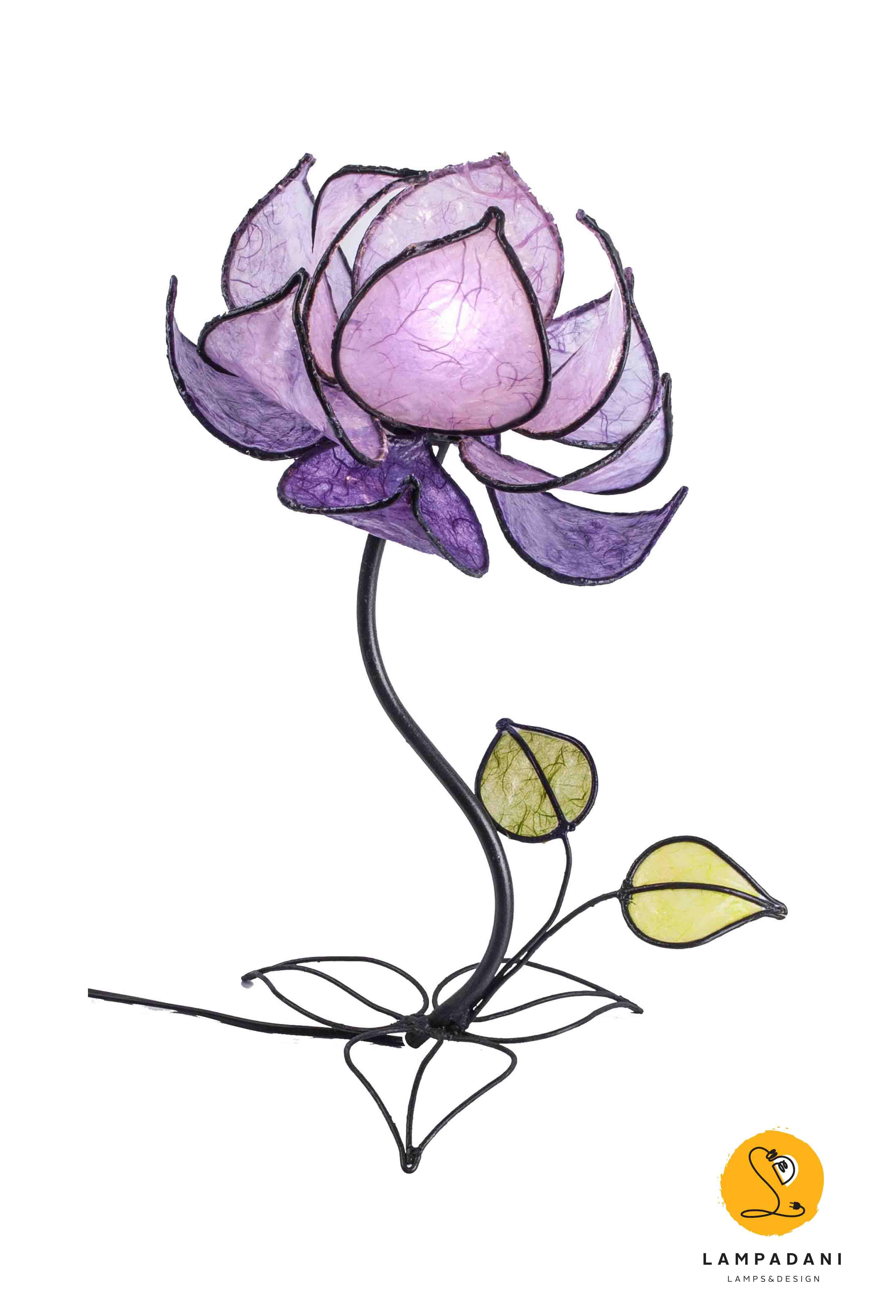 Lotus flower table lamp 12 petals high lampadani lotus flower table lamp 12 petals high izmirmasajfo Choice Image