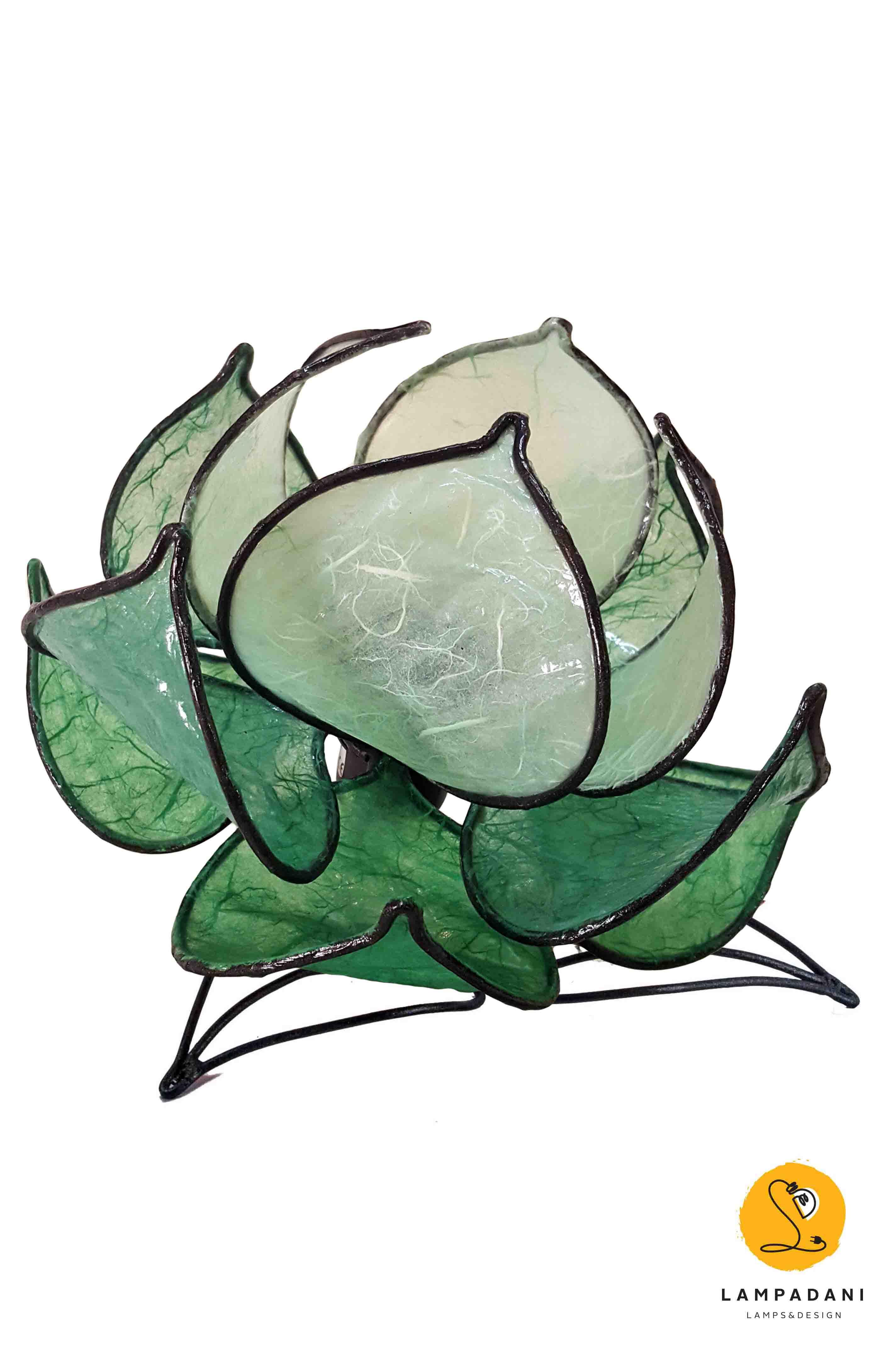 Lotus flower table lamp 12 petals low lampadani lotus flower table lamp 12 petals low izmirmasajfo Choice Image