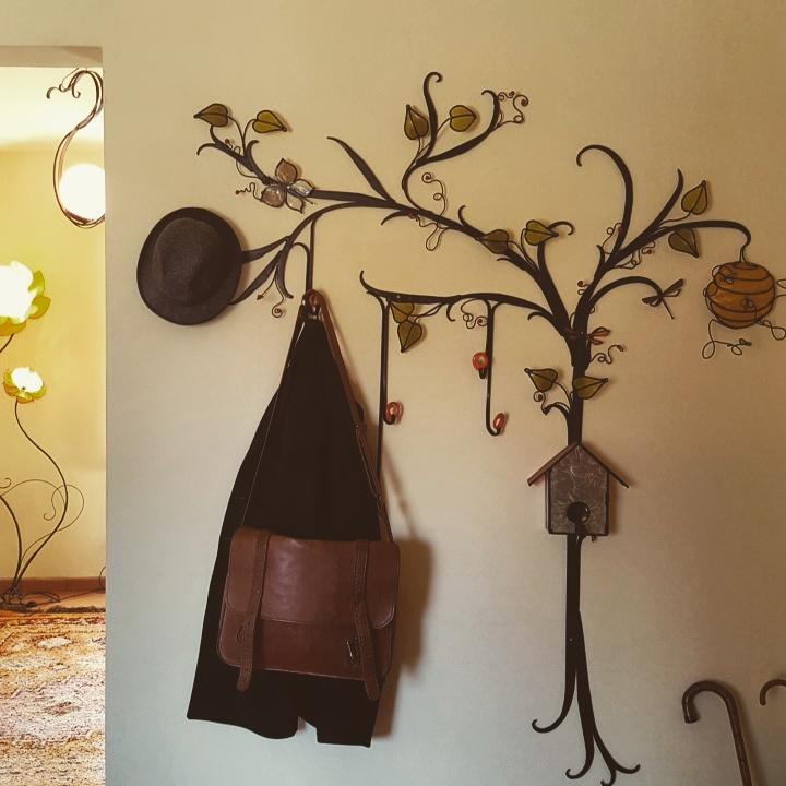 Appendiabiti da parete a forma di albero lampadani - Appendiabiti con specchio da parete ...