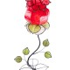 flower shaped table lamp red