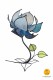 flower-shaped table lamp blue
