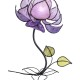 flower-shaped table lamp lilac