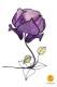 flower-shaped table lamp purple