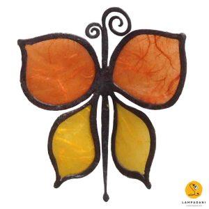 butterfly-shaped magnet orange