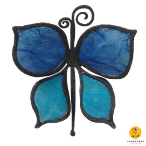 butterfly-shaped magnet blue