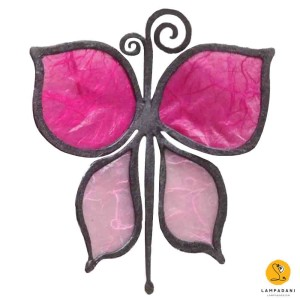 butterfly-shaped magnet pink
