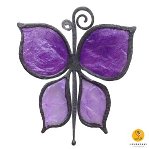 butterfly-shaped magnet lilac