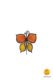 butterfly-shaped magnet orange