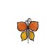 small butterfly-shaped magnet orange