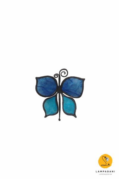 small butterfly-shaped magnet blue