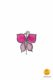 small butterfly-shaped magnet pink