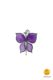 small butterfly-shaped magnet purple
