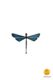 dragonfly-shaped magnet blue little