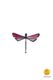 dragonfly-shaped magnet pink little