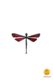 dragonfly-shaped magnet red little