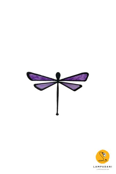 dragonfly-shaped magnet purple little