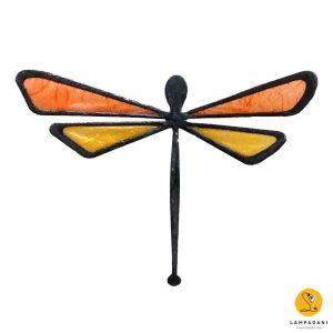 dragonfly-shaped magnet orange