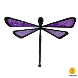 dragonfly-shaped magnet purple