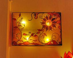 Lampada da parete quadro luminoso lampadani