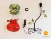 flower shaped table lamp parts