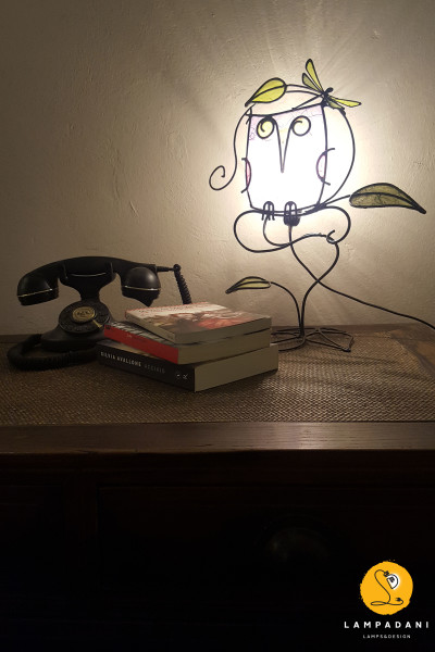 owl shaped table lamp