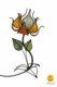 flower-shaped Table lamp orange