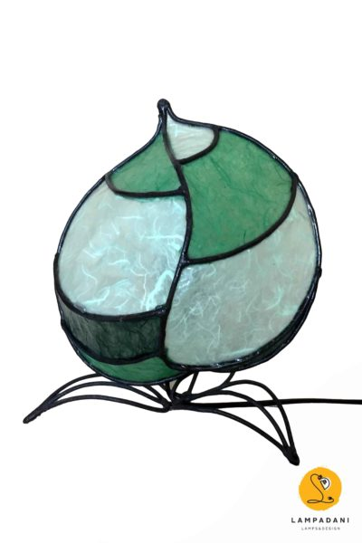 leaf shaped bedside lamp light green