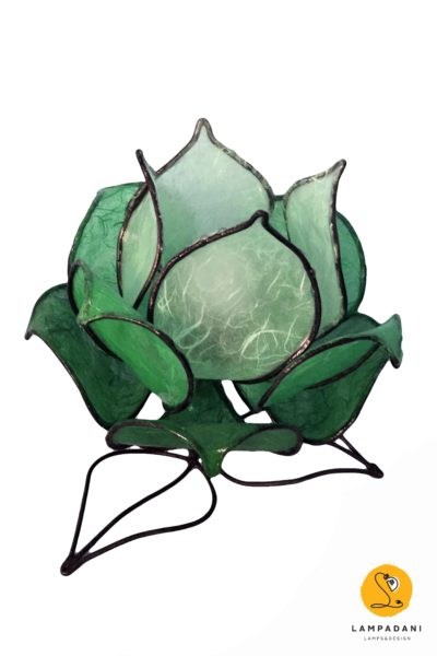 lampada da tavolo a forma di fiore
