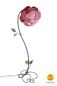 piantana a forma di fiore