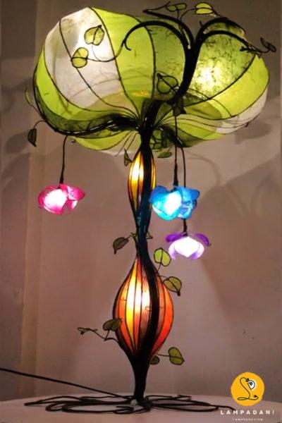 piantana, lampada da tavolo a forma di albero