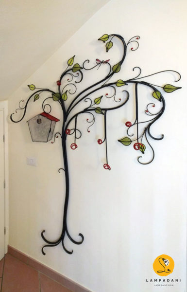 Tree shaped Wall Clothes hanger and key holder