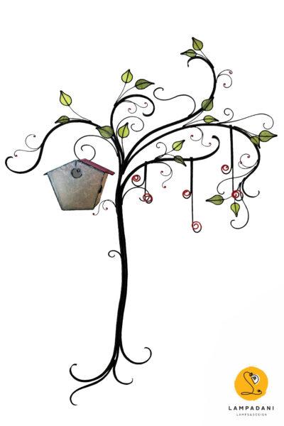 appendiabiti da parete a forma di albero