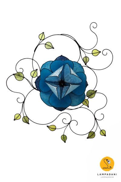 lampadani-RSL01-lampadario-fiore-loto-blu